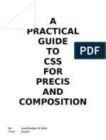A Practical Guide to Css