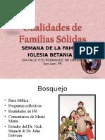 Familia - Familias Sólidas - presentado en  Ig Betania II AIC, PR