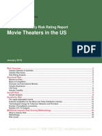Movie Theaters in the US Risk Ratings Report