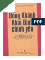 Đồng Khánh Khải Định Chính Yếu - Nguyễn Văn Nguyên Dịch