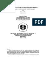 laporan kasus anestesi pada operasi laparaskopi