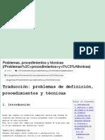 Problemas, Procedimientos y Técnicas de Traducción