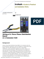DIY Wiring a Three Phase Consumer Unit-Distribution Board and Wiring Diagrams