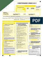 Cuestionario Censo 2017