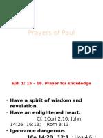 Paul's Prayer Class 8