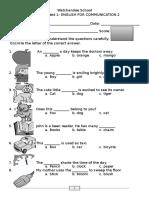 English Communication 2