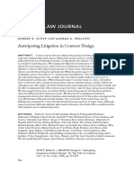 Anticipating Litigation in Contract Design - Robert E. Scott and George G. Triantis