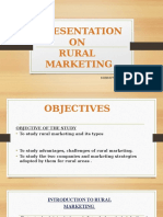 presentation on rural marketing