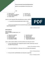 Primary Examination EMQs