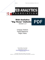Web Analytics Definitions Big 3