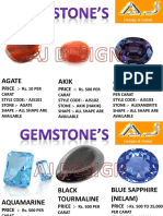 Gemstone Price List