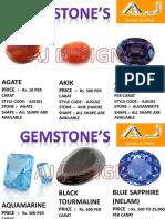 Gemstone Price List