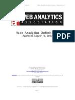 Web Analytics Definitions Vol 1