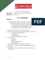 Assignment for Clinical Portfolio Sem 2