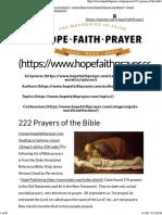 222 Prayers of the Bible _ HopeFaithPrayer