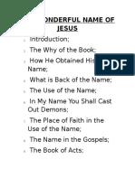 The Wonderful Name of Jesus
