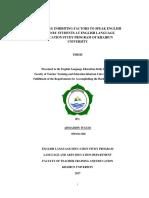 EXPLORING INHIBITING FACTORS TO SPEAK ENGLISH FACED BY STUDENTS AT ENGLISH LANGUAGE EDUCATION STUDY PROGRAM OF KHAIRUN UNIVERSITY