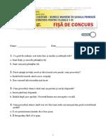 Concurs bunele maniere test+barem