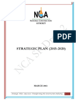 Strategic Plan for National Construction Authority White Sands Version