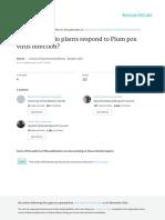 Sharka How Do Plants Respond to Plum Pox Virus Infection