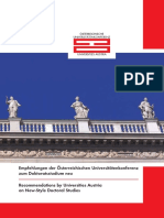 Universities Austria.recommendations.doctoral Studies.march08