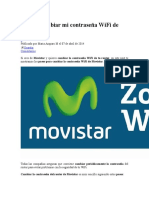 Cómo Cambiar Mi Contraseña WiFi de Movistar