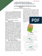 Development Analysis of Superstrate Magneto-Hydrodynamic Antenna