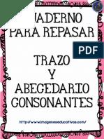 Cuaderno Para Repasar Trazo y Abecedario Consonantes