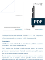 Onetouch 6033 User Manual Italian