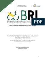 Projeto Pedagogico Relacoes Internacionais Bri