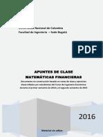 Apuntes de Matematicas Financieras