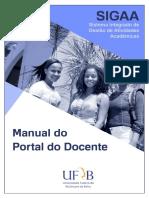 Manual Portal Docente Sigaa