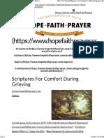 Scriptures for Comfort During Grieving _ HopeFaithPrayer