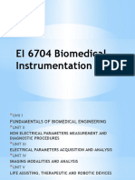 EI 6704 Biomedical Instrumentation Unit I