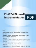 EI 6704 Biomedical Instrumentation Unit I