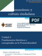 Unidad 2 Fundamentos Históricos y Conceptuales en La Postmodernidad