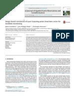 Image-based correlation of Laser Scanning point cloud time series for landslide monitoring