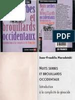 Jean Franklin Narodetzki-Nuits Serbes Et Brouillards Occidentaux
