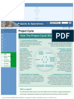 Projects - Project Cycle