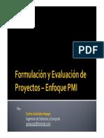 Formulacion y Evaluacion de Proyectos - Enfoque PMI_01