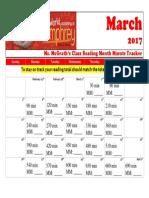 march 2017 calendar minute tracker