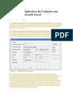 Modelo de Aplicativo de Cadastro Em VBA No Microsoft Excel