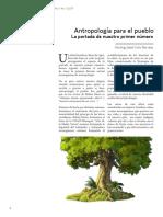 Norling Solís (2017) Antropología Para El Pueblo. La Portada Del Primer Número