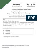 Energy Harvesting From Roadways