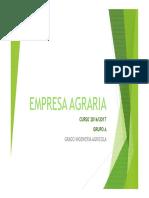 Tema 1 Concepto de Empresa Agraria