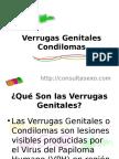 Verrugas genitales o condilomas