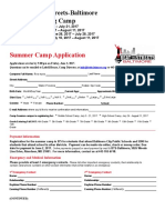 2017 Beat the Streets STEM/Wrestling Camp Application