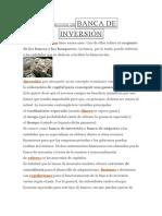Definición Debanca de Inversión