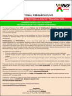National Call for Multidisciplinary Research1