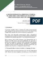 Desnecessidade_apreensao_pericia_carvalho - De Jure - Revista Jurídica Do Ministério Público Do Estado de Minas Gerais, Belo Horizonte, V. 11, n. 19, p. 226-235, Jul. - Dez. 2012